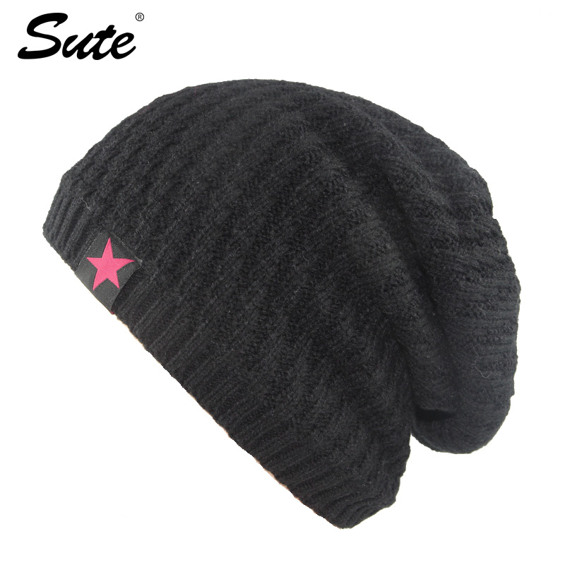 sute Brand Beanies Knit Men's Winter Hat Caps Skullies Bonnet Winter Hats For Men Women Beanie Fur Warm Baggy Wool Knitted Hat aetrue beanie knit winter hat skullies beanies men caps warm baggy mask new fashion brand winter hats for men women knitted hat