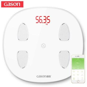GASON S6 Inteligente Gordura Corporal Escalas Chão LED Eletrônico Digital Peso Banho Composição Bluetooth Monitor 4.0 APP Android ou IOS