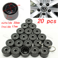 20pcs/set 17mm Car Plastic Caps Bolts Head Covers Nuts Alloy Wheel Protectors For Fits VW Jetta Golf Passat CC with tools