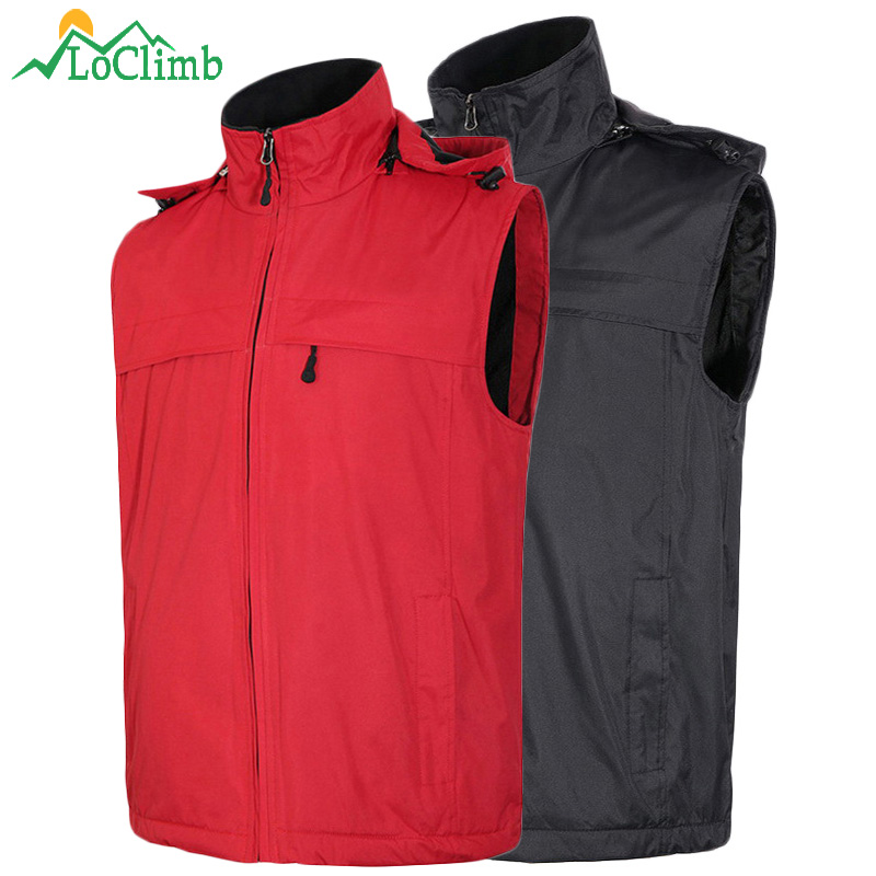 new products db93f eef13 US $20.99 50% di SCONTO|LoClimb Uomo Donna Impermeabile Softshell In Pile  Caldo Gilet Invernali Trekking Sport Gilet Uomo Outdoor Escursionismo ...
