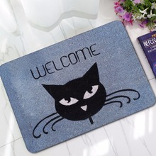 Drop Shipping Cute Dog Cats Entrance Rubber Door Mats Carpets Kids Bedroom OUR Dog don't Know Sit alfombra cocina Floor Mat цена