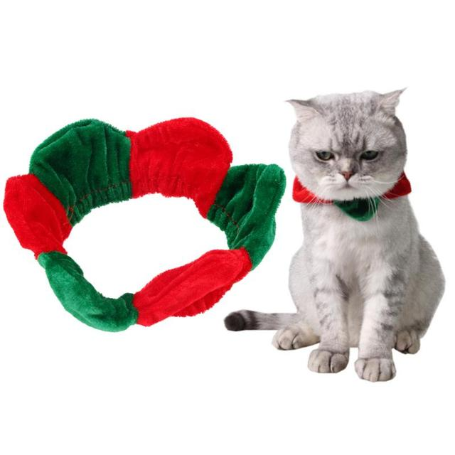 christmas fashion pet collar red and green stitching puppy cat collar christmas decorations for pets products