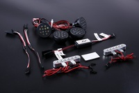 Plastic Front Light And Cnc Metal Tail Lamp Set For 1 5 Hpi Baja 5t Rc