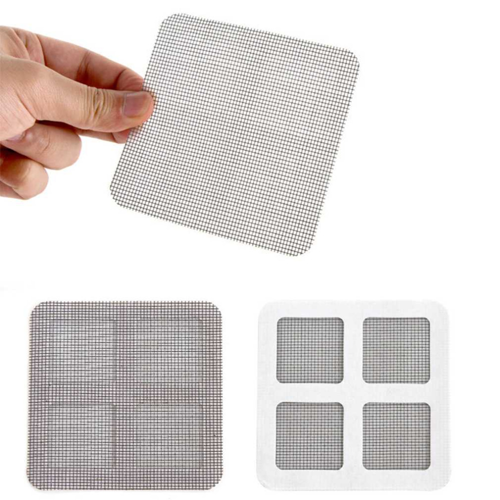 3pcs Anti-mosquito Mesh Sticky Wires Patches Summer Window Mosquito Netting Patch Repairing Broken Holes On Screen Window Door