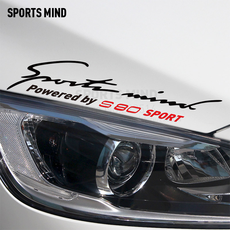 10 Pieces Sports Mind Automobiles Car-Styling Waterproof Vinyl Sticker Decal Exterior Accessories For Volvo S80 Accessories