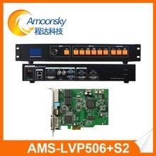 Venda melhor processador de vídeo display led uso lvp506 adicionar s2 sedning colorlight cartão hd full color 1080 p vídeo switcher
