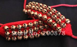 Image 1 - _ Индийский танцевальный браслет ручной работы, Латунные Колокольчики, черный и красный
