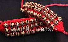 BB 261 indyjska ręcznie tańcząca bransoletka na kostkę, mosiężne dzwony, czarno czerwona