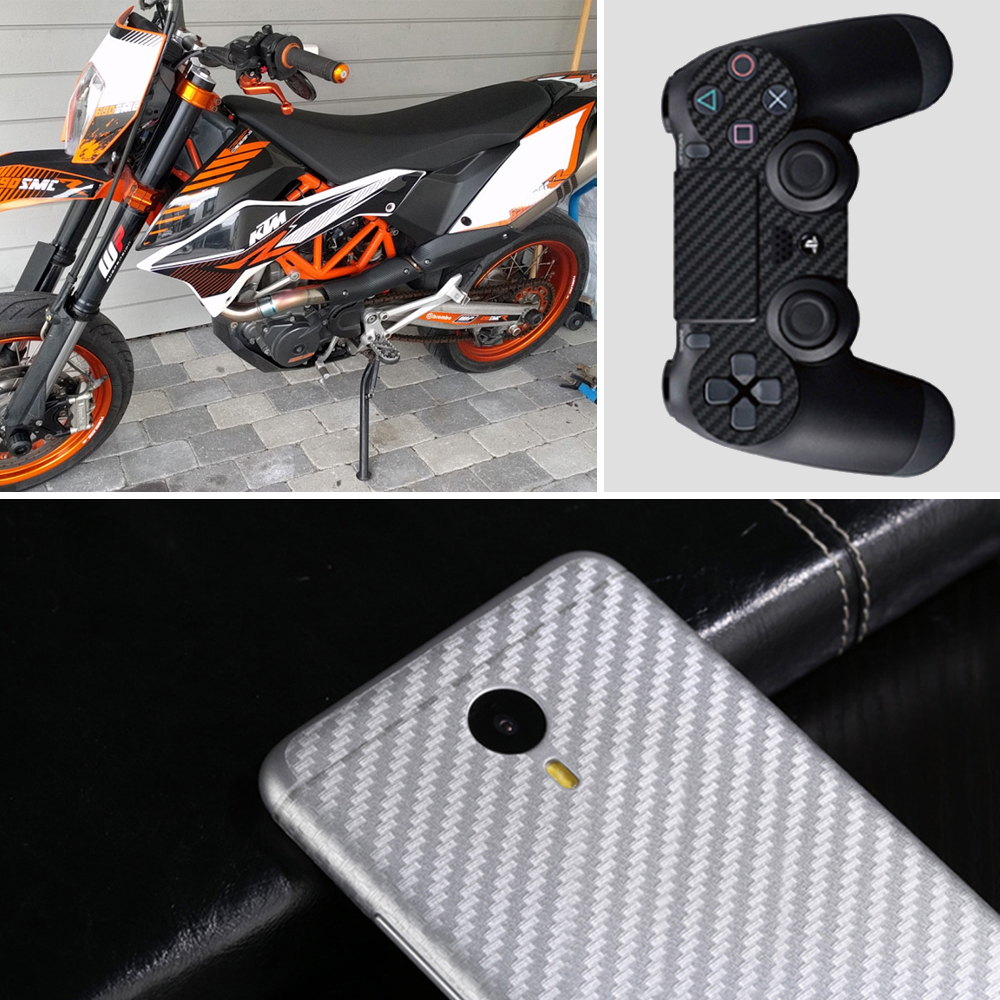 Image 5 - 200cm*30cm 3D Carbon Fiber Vinyl Film 3M Car Stickers Waterproof DIY Motorcycle Automobiles Car Styling Wrap Roll Accessories-in Car Stickers from Automobiles & Motorcycles