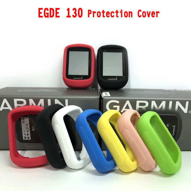 cbbf48433f6 GARMIN EDGE 130 Bicycle computer protection cover Silicone colo protective  case + LCD Screen Protector (For GARMIN Edge130 )