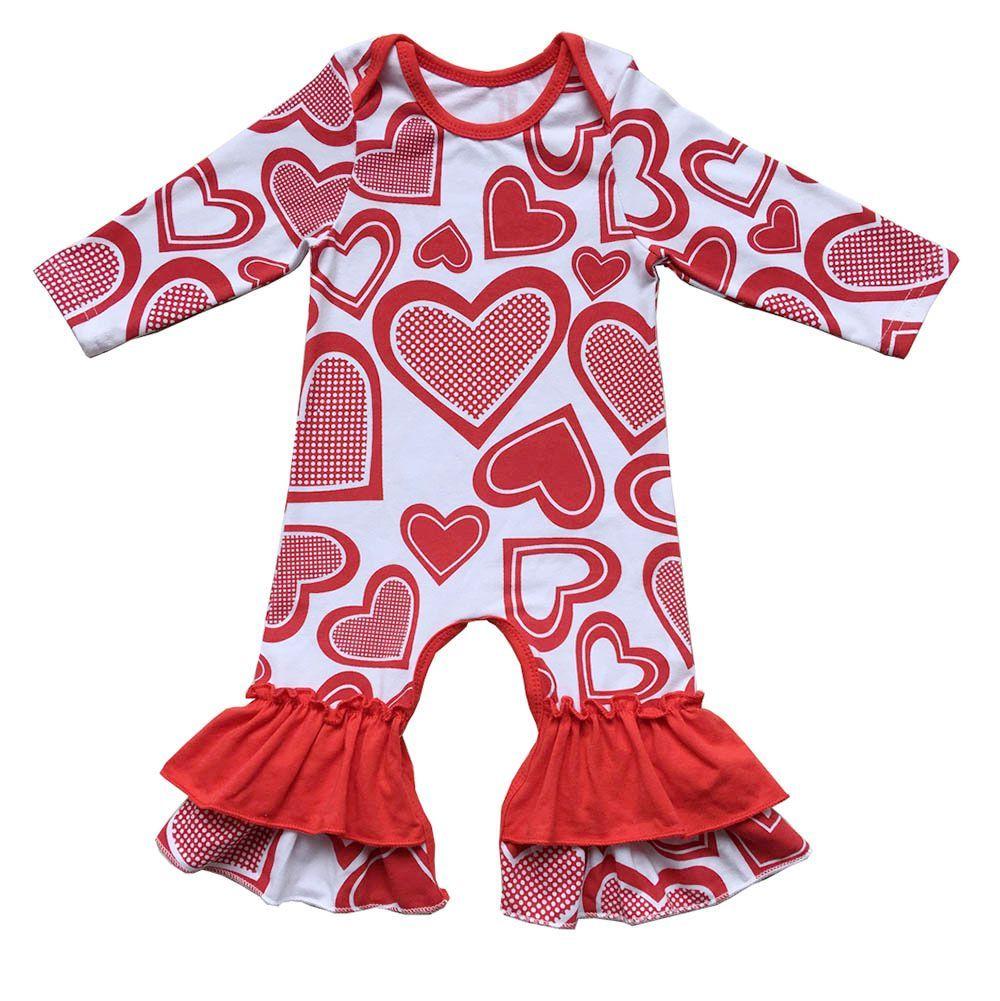 Donuts Valentines Day St. día de San Patricio día de Pascua niñas vestido ropa icing ruffle mameluco al por mayor ropa de bebé