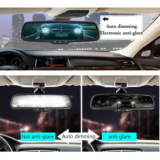 GreenYi, monitor de espejo retrovisor de atenuación automática con soporte Especial Original, conducción más segura para Toyota Volkswagen, Renault Kia Hyundai