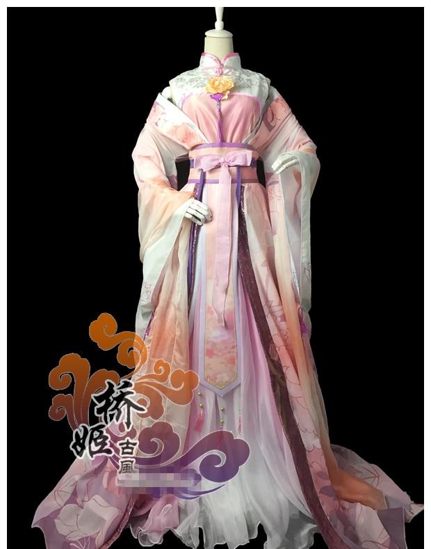 Le jeu Miracle Nikki chinois ancien Costume Super magnifique impression numérique tradition sur mesure Cos + livraison gratuite C