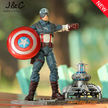 20CM Action Figure Toys The Avengers 1/8 scale painted figure American Captain Figure Garage Kits Dolls Brinquedos Anime