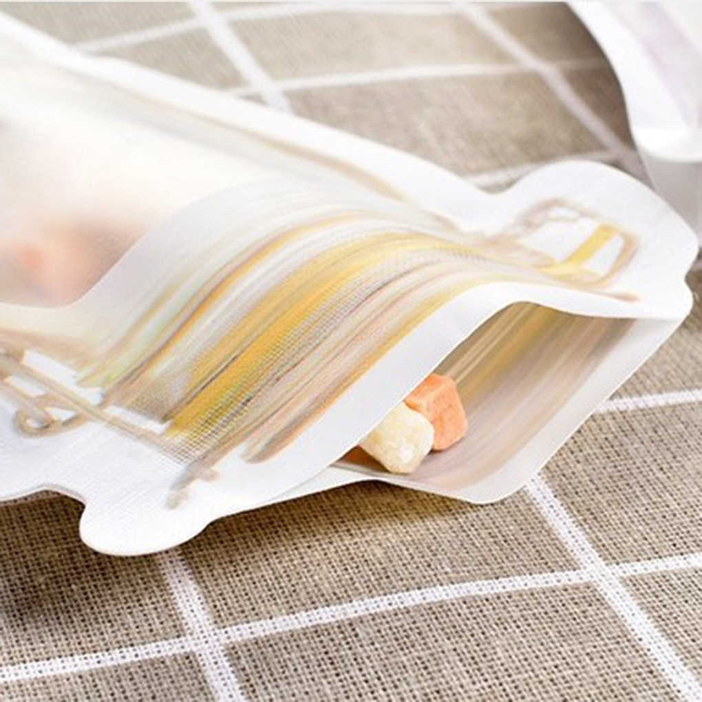 New Lovely Reusable Seal PE Food Fresh Bag Vacuum Sealer Fruit Meat Milk Storage Bags Wrap Plastic Bags