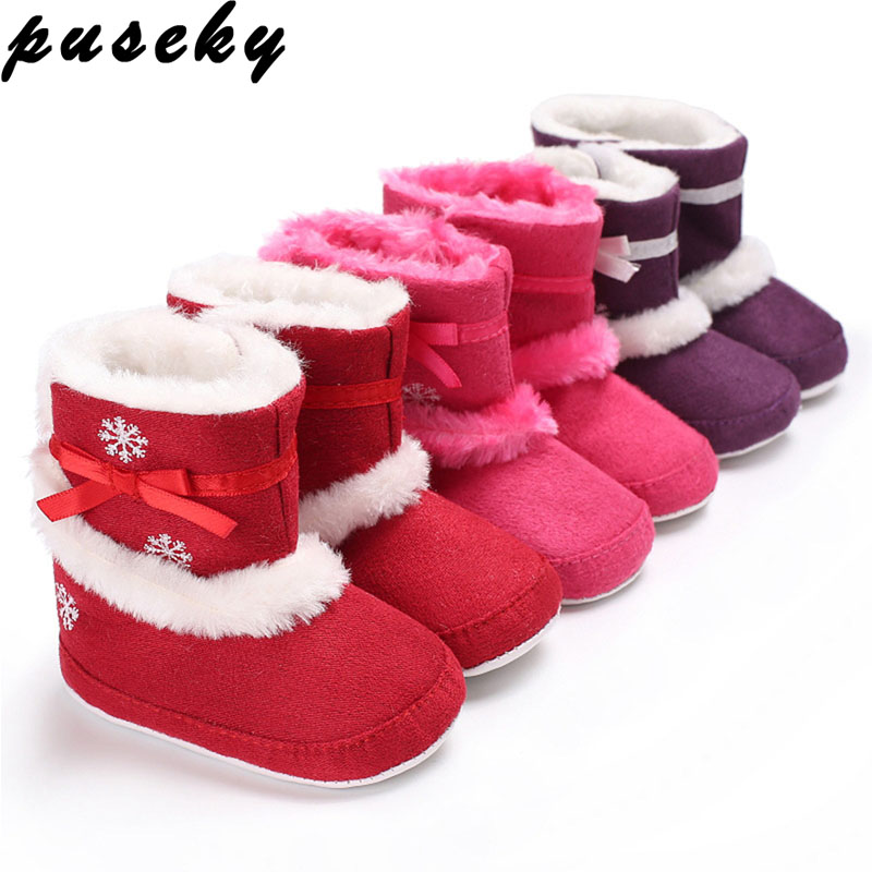 Baby Shoes Casual Baby Girl Boy Shoes Hair Ball Snow Princess Winter Warm Shoes Lovely Fur Ball Pu Crib Shoes 1pcs Solid Tassels Shoes Selected Material Mother & Kids