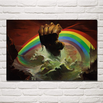 Arco Iris Rising Hard Rock Heavy Metal ilustraciones dibujo Blackmore YR089 sala...