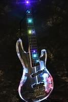 В наличии Starshine SR BBS красочные кристалл стиль, 5/4 струны бас гитара светодио дный свет акриловые тела и бабка