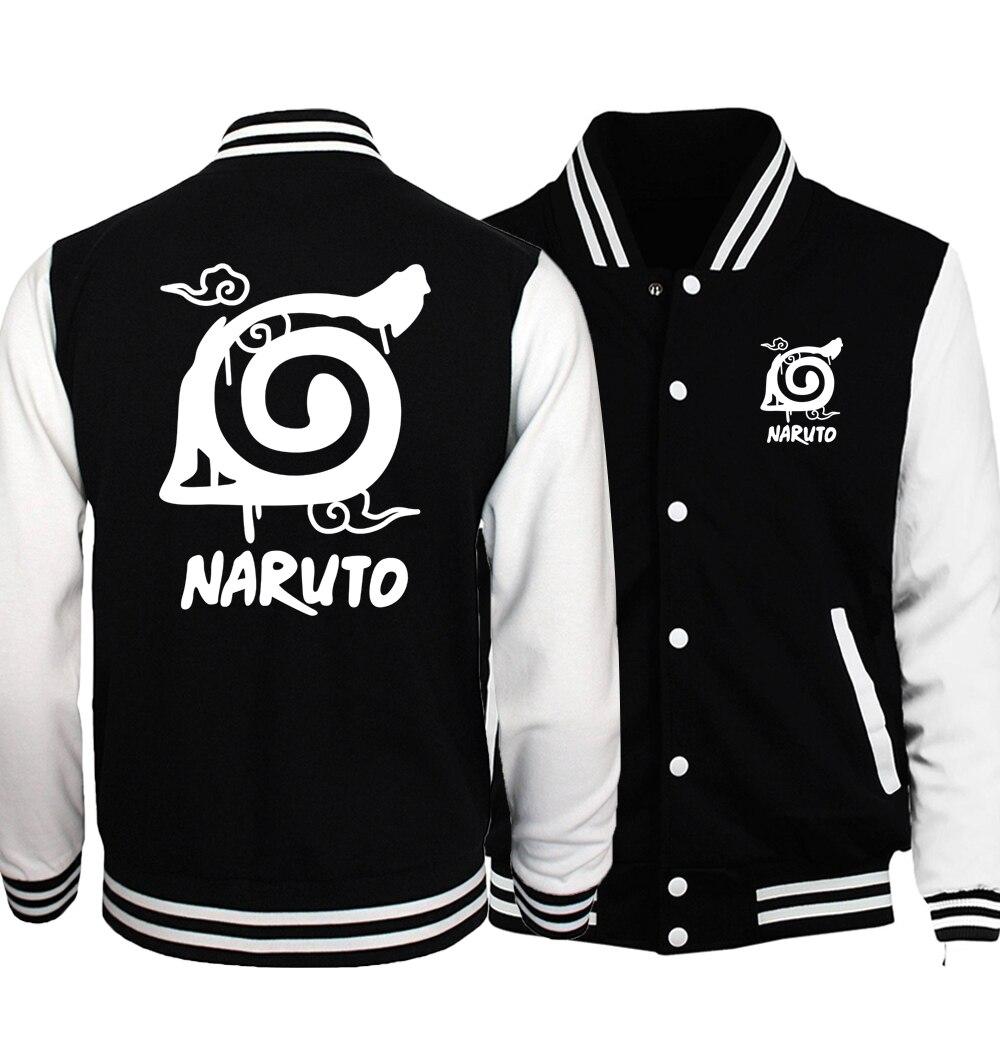 Naruto Uzumaki Naruto 2019 Autumn Jackets Men Anime S.A.O Men's Jacket Cartoon Pokemon Hoodies Bomber Jacket Men's Sportswear