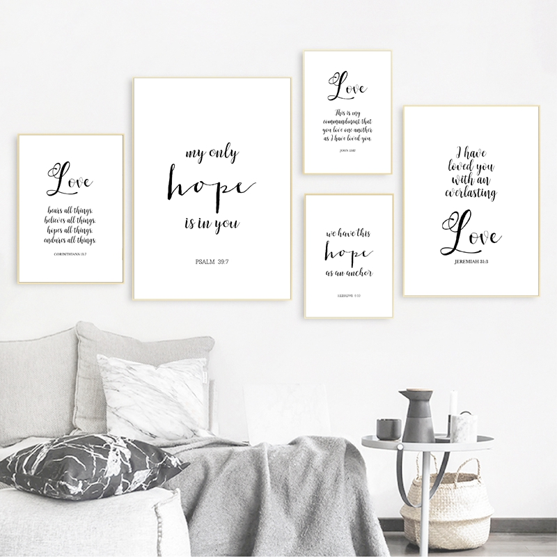 Verses Typography Prints Painting Home Decor