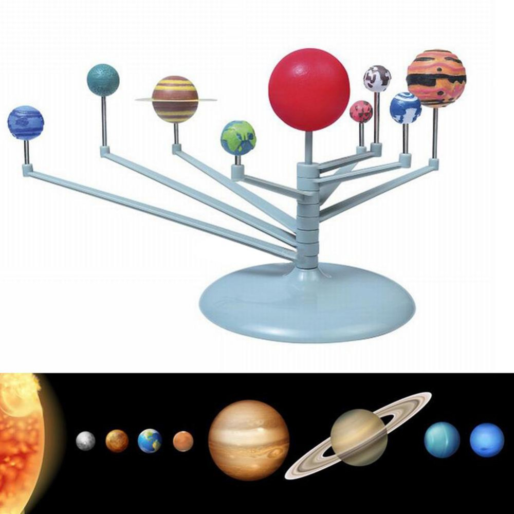 MrY DIY The Solar System Nine Planets Planetarium Model Kit Science Astronomy Project Early Education For Children