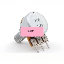 Free shipping Japan imported B50K single volume potentiometer 15MM audio amplifier rachides 3 feet