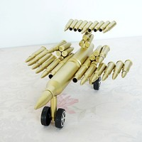 DIY Large Scale Aircraft Model Metal Bullet Crafts Navigation Figure Toy Christmas Gift For Kids 4