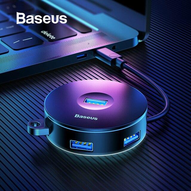 Baseus wielu USB 3.0/typu C HUB do USB3.0 + 3 USB2.0 dla Macbook Pro piasta dla Huawei P20 dysk twardy komputera akcesoria