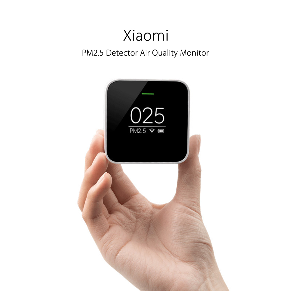 Original Xiaomi Smart Air Quality Monitor PM2.5 Detector Wifi Portable OLED Screen Use With Air Purifier Air Monitoring