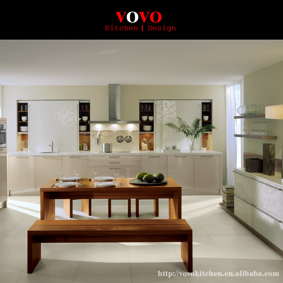 Sliding door kitchen cabinet customized color-in Kitchen ...