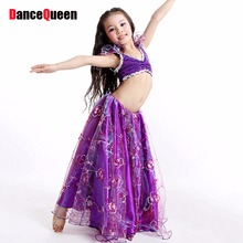 2017 New Children Girls Belly Dance Costume Kids Bollywood Dance Costumes 4Colors Tribal Gypsy Skirt Dancer Free Shipping