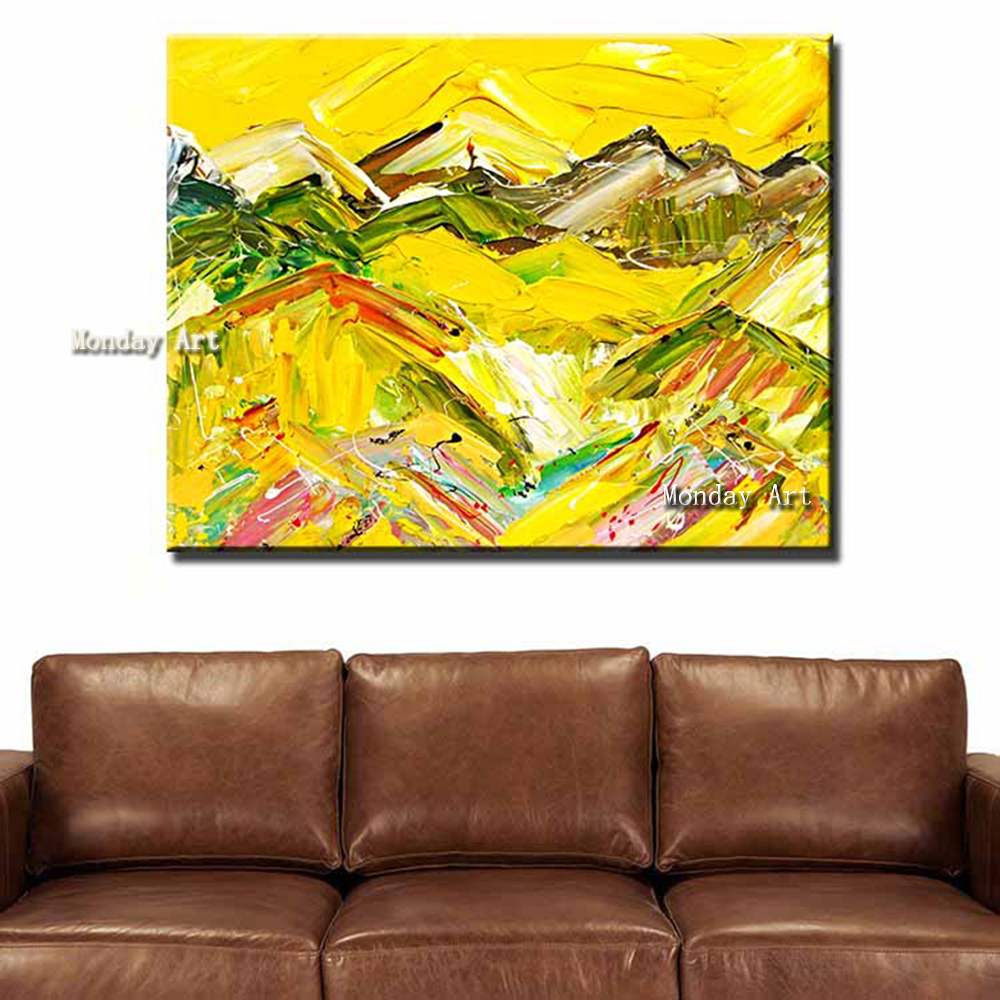 188 Oil-Painting-of-the-Gazing-Towards-The-Summit-Modern-Prints-for-living-room-home-decoration-art -