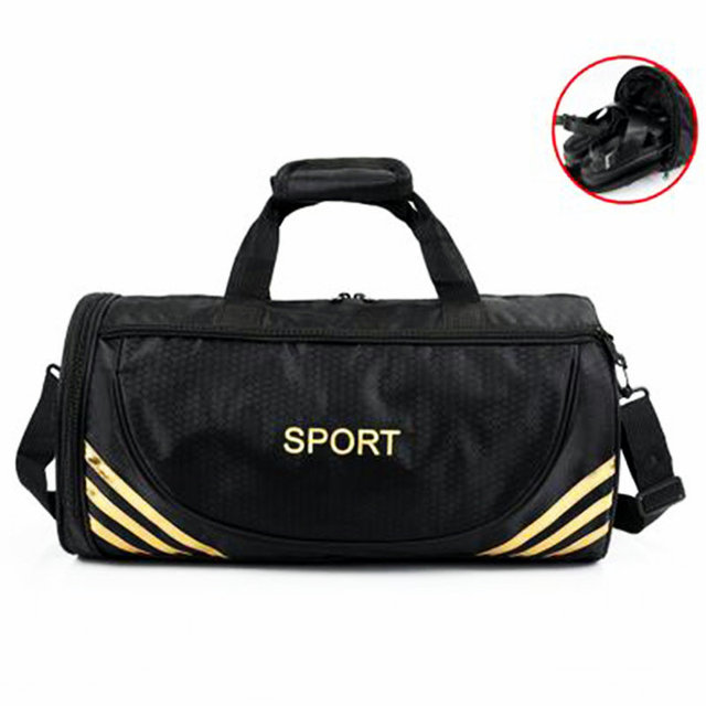 Barrel Shaped Fitness Bag Waterproof Oxford Football Bags Printi Letter Gym Handbag Outdoor Tour Luggage Single