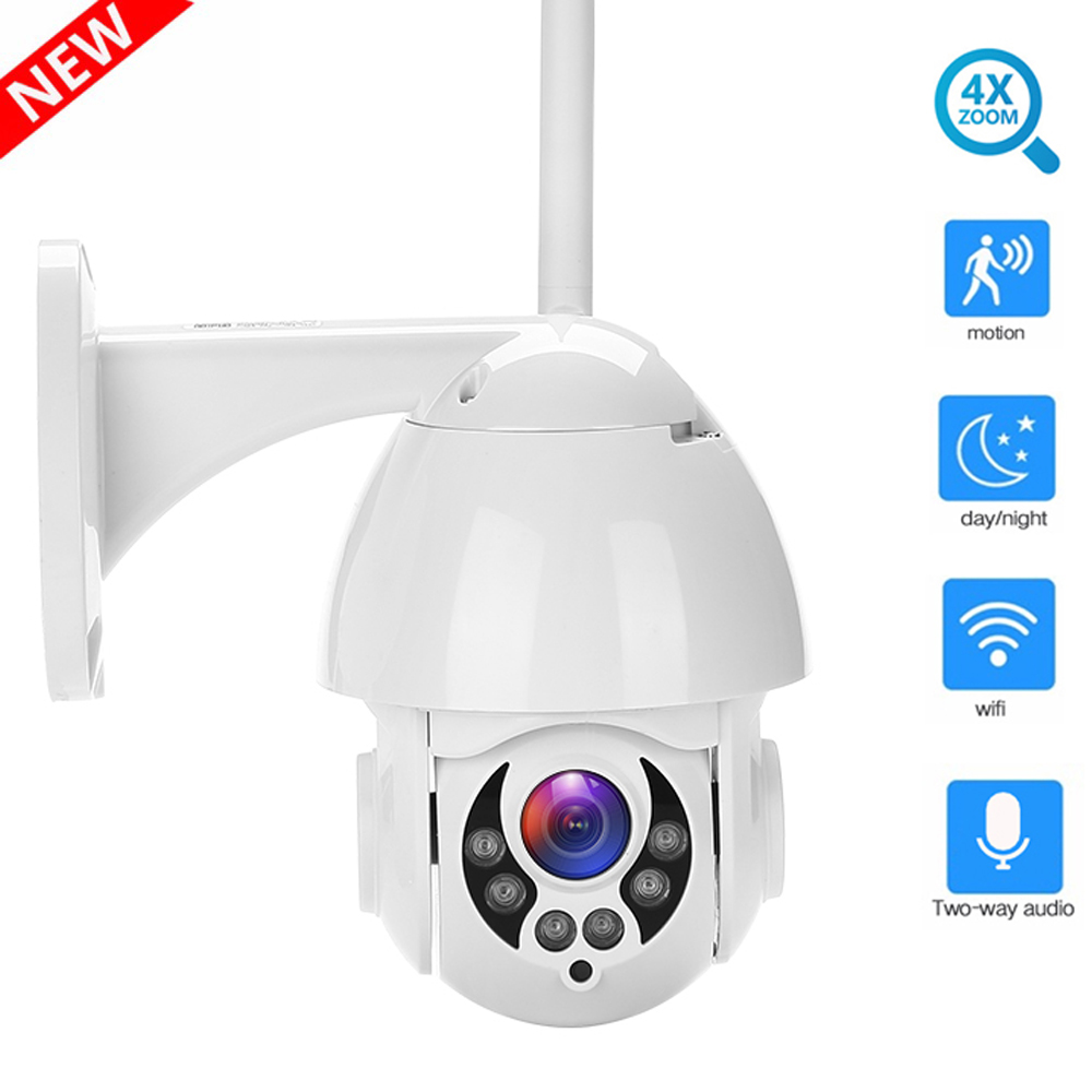 PTZ IP Camera WIFI Camera Outdoor Pan Tilt Zoom 4X 1080p Speed Dome Onvif ip Cam IR Security Surveillance ipCam Camara Exterior in Surveillance Cameras from Security Protection