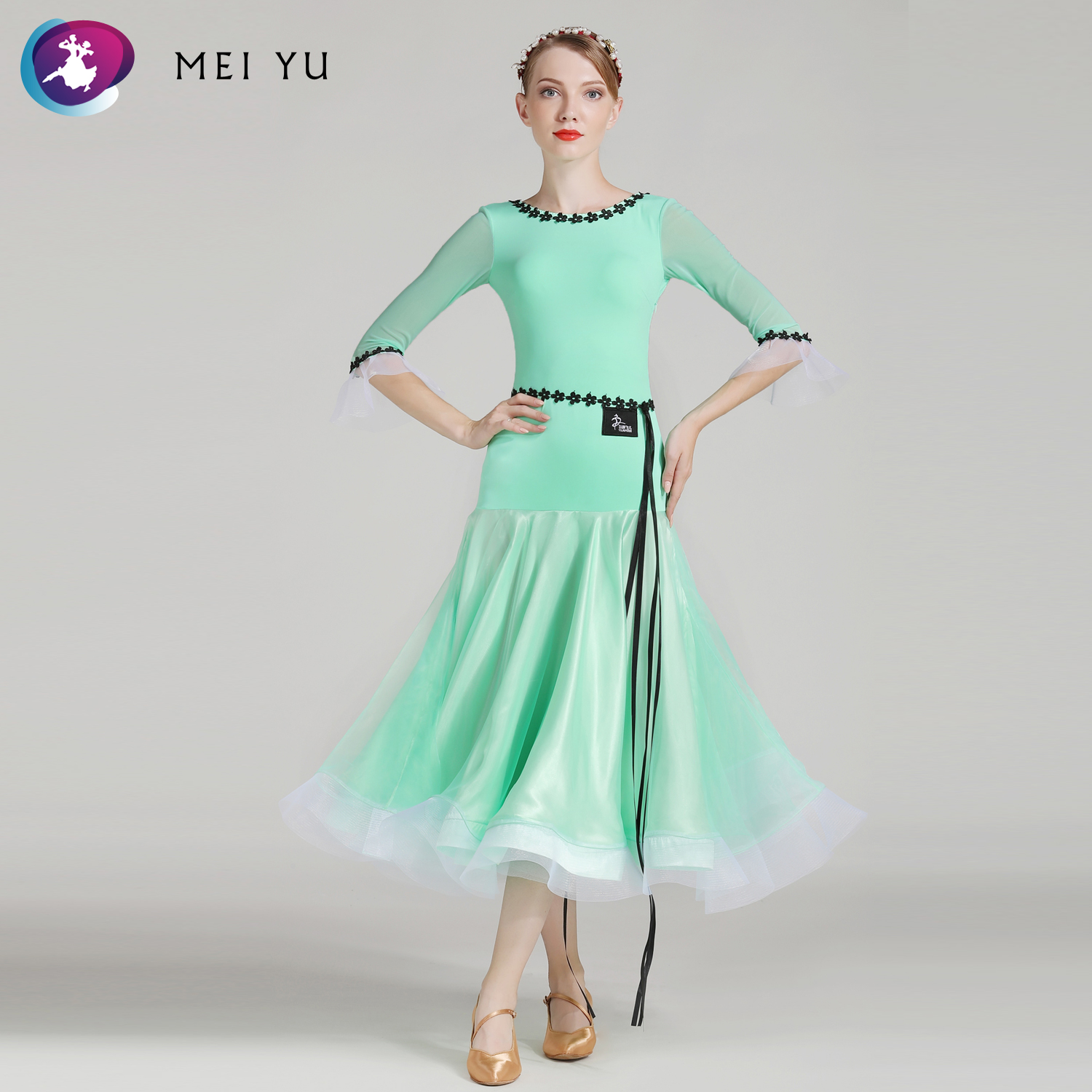 Frugal Mei Yu S7006 Modern Dance Costume Women Ladies Adults Dancewear Waltzing Tango Ballroom Costume Evening Party Dress Quality And Quantity Assured Stage & Dance Wear Ballroom