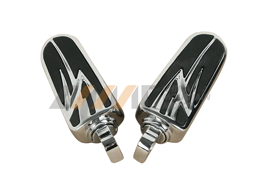 Universal 10mm Chrome Foot Pegs Footrests Case For Harley Street Road Glide King Dyna
