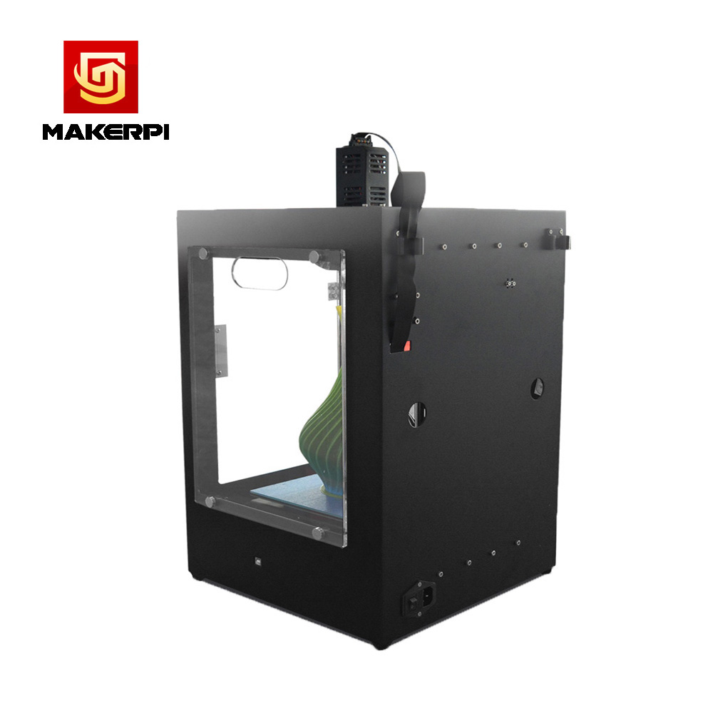 MakerPi Fully Enclosed Mix-Color Printing 3D Printer Machine w/Filament Dual Extruder For Drop Shipping 5