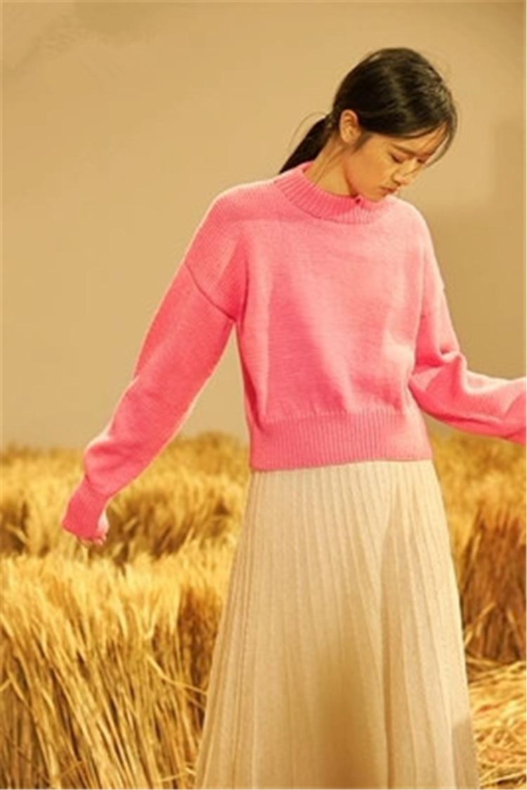 Tricot Main Solide H Femmes Laine Mode Courte Pull 6 À Blanc Fait Pure 100 Personnalisée La De Oneck droite Chandail Couleur 7wtACYxq