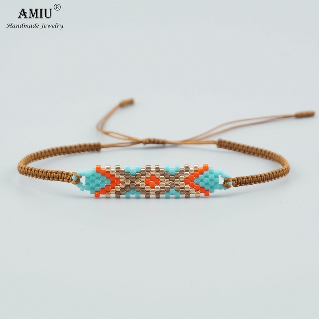 2018 Amiu Handmade Miyuki Bead Bracelets Por Geometric Boho Charm Delica Bangles