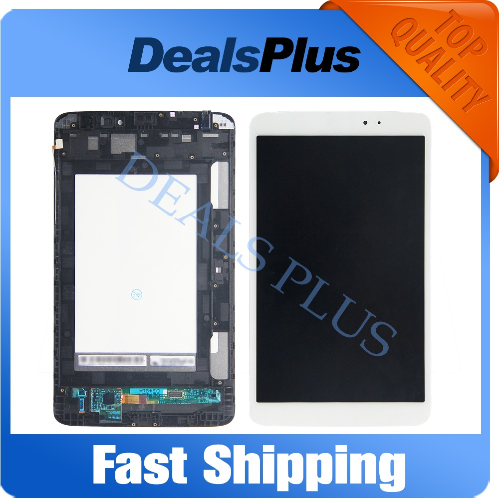Replacement New LCD Display + <font><b>Touch</b></font> <font><b>Screen</b></font>+Frame Assembly For <font><b>LG</b></font> G Tablet Pad 8.3 <font><b>V500</b></font> wifi Version Black White image