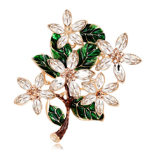 Classic Vintage Flower Brooches Enamel Metal Crystal Brooch Pin For Women Shirt Collar Dress Pin Up Brooch Jewelry Accessories цена 2017