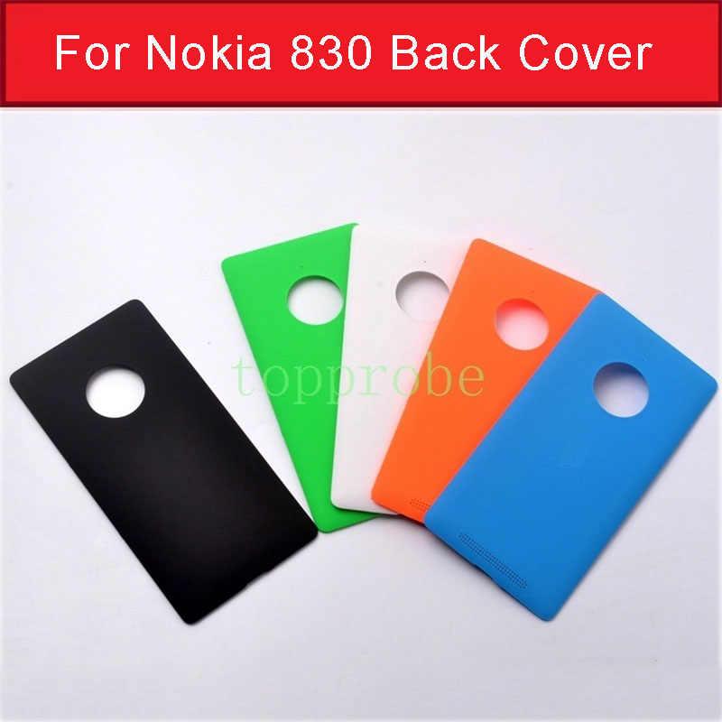 حقيقي جديد باب البطارية الإسكان لنوكيا 830 الغطاء الخلفي ل مايكروسوفت lumia نوكيا 830 الغطاء الخلفي الغطاء الخلفي 1 قطعة فيلم مجانا
