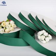 Ruban en gros-grain de couleur vert foncé, largeur Offre Spéciale, 7MM-38MM, pour emballage cadeau, noël, fête de mariage, artisanat décoratif