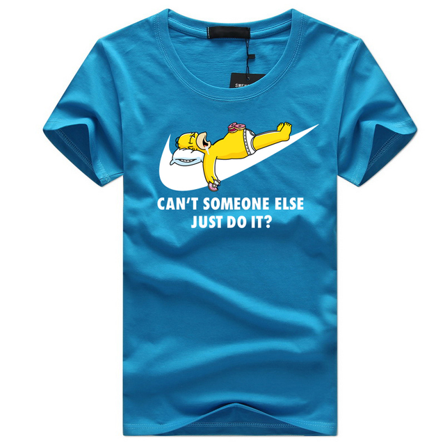 Simpson Just Do It Printed Cotton T-Shirt For Men