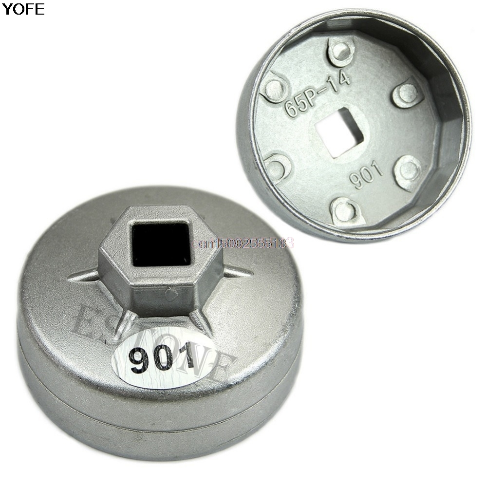 Wrench Auto Tool 1/2 Square Drive 65mm 14 Flutes End Cap Oil Filter Wrench Auto Tool For Toyota