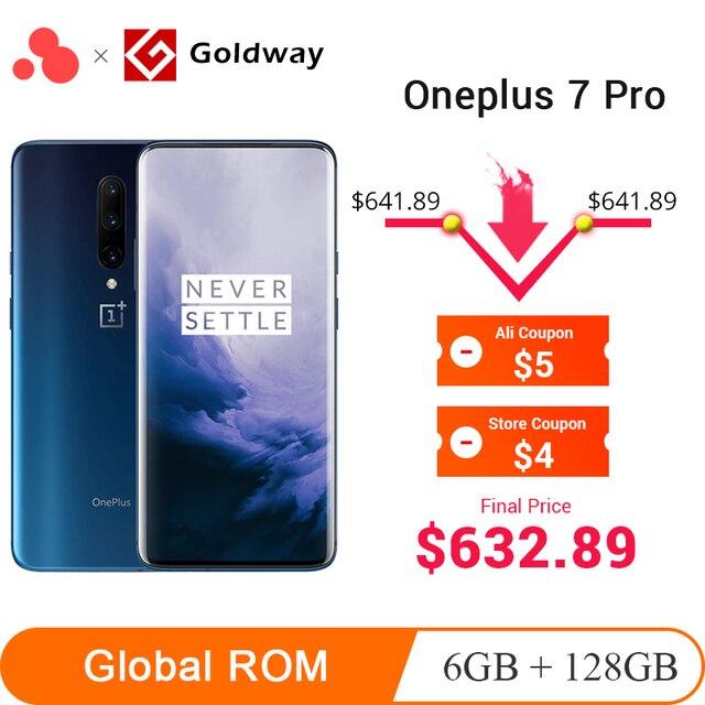 Oneplus 7 Pro 6GB 128GB Smartphone Snapdragon 855 AMOLED Screen 48MP Triple Camera