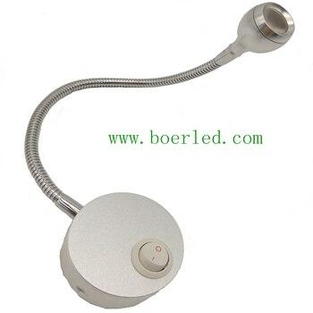 1 Вт 12 В 24 В 110 В 220 В гибкое колено стены прикроватная лампа led