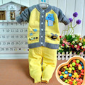 Spring and autumn New Baby Cotton Sweater Aircraft Models Cotton Cardigan Sweater Suit Children Sweater Suit