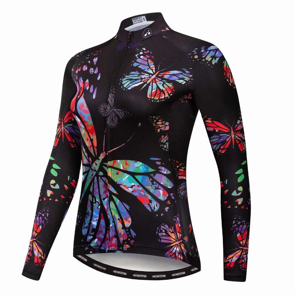 2018 женская футболка с длинным рукавом для езды на велосипеде с изображением кошек, одежда для горного велосипеда, рубашка для горного велосипеда Ropa Ciclismo, спортивная блузка, топ, Осенний розовый цвет