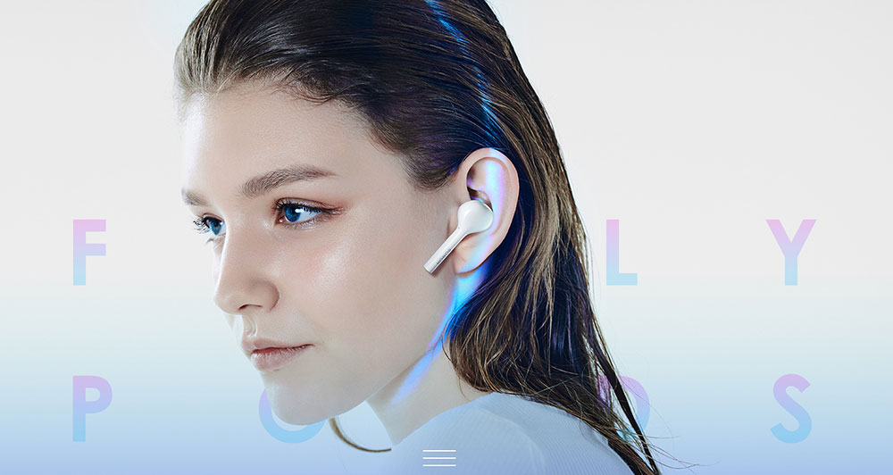 HONORFlyPods Youth Wireless Bluetooth Earphones Double Tap Touch Sport Waterproof Music Earphones Apple android Universal  (1)